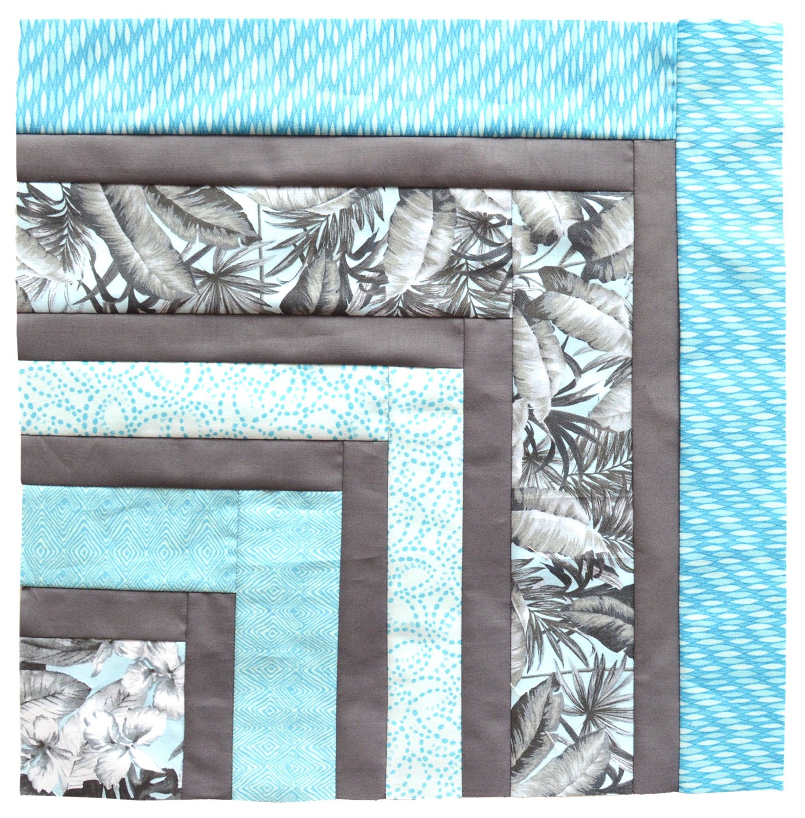 inspired by fabric free quilt pattern tropical blues