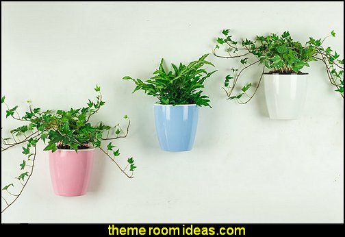 Self Watering Flowerpot, Wall Mounted Plants Holder  garden decor ideas decorating the garden  - decorative garden accents -  Outdoor Decor - garden ornaments  - garden decorations - novelty Yard & Garden decor  - fairy garden - Decorate the Patio - gifts for the home gardener  - Patio Decor - garden patio furniture