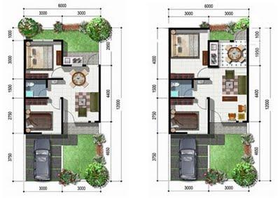 konsep desain rumah minimalis tipe 45