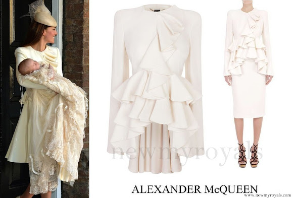Kate Middleton wore Alexander McQueen ivory dress