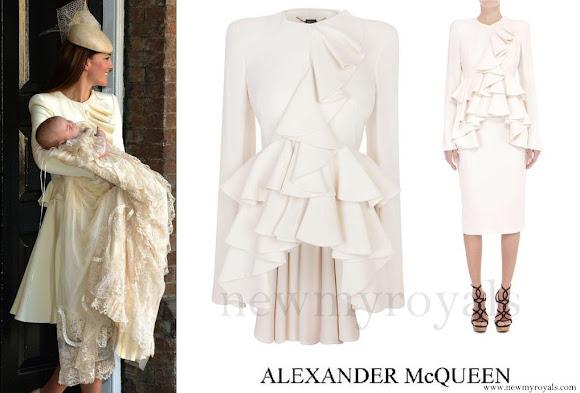 Kate Middleton wore Alexander McQueen ivory dress