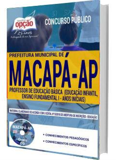 Apostila Concurso Prefeitura de Macapá 2018  Professor de Educação Básica
