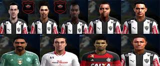 Faces : João Schmidt, Thiago Santos, WillianArão, Giovanni Augusto, Hyuri, Jemerson, jesiel,  Junior urso, Tiago, Pes 2013