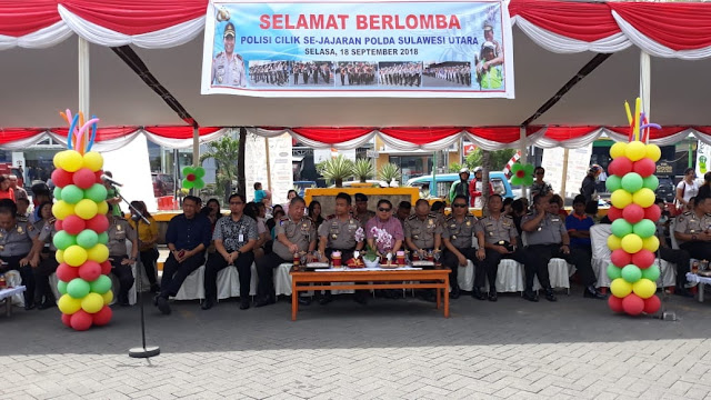 Meriahkan Hut Lalin Bhayangkara ke-63, Kapolda Sulut buka lomba Polisi Cilik tingkat Sulut