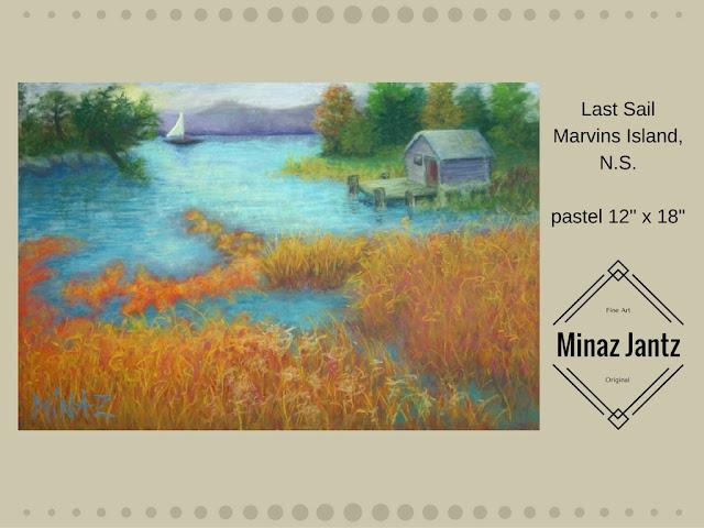 Last Sail: soft pastel by Minaz Jantz