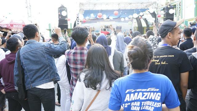 Pensi Smamsa Palembang bersama Yamaha Free Go