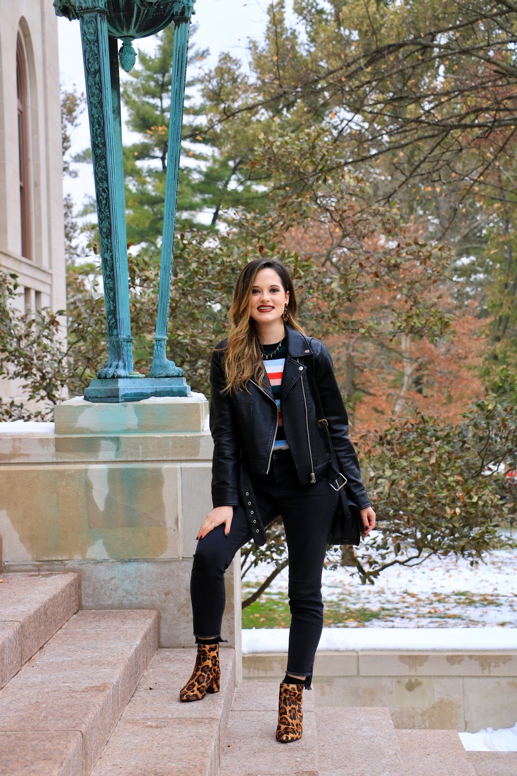 Nyc fashion blogger Kathleen Harper wearing a winter outfit in 2019.