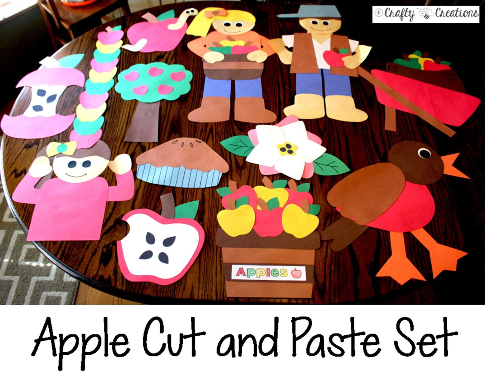 Crafty Bee Creations Apple And Fall Cut And Paste Sets