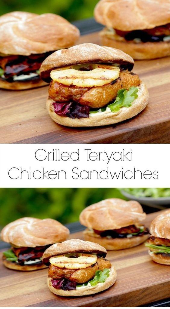 Grilled Chicken Teriyaki Sandwiches