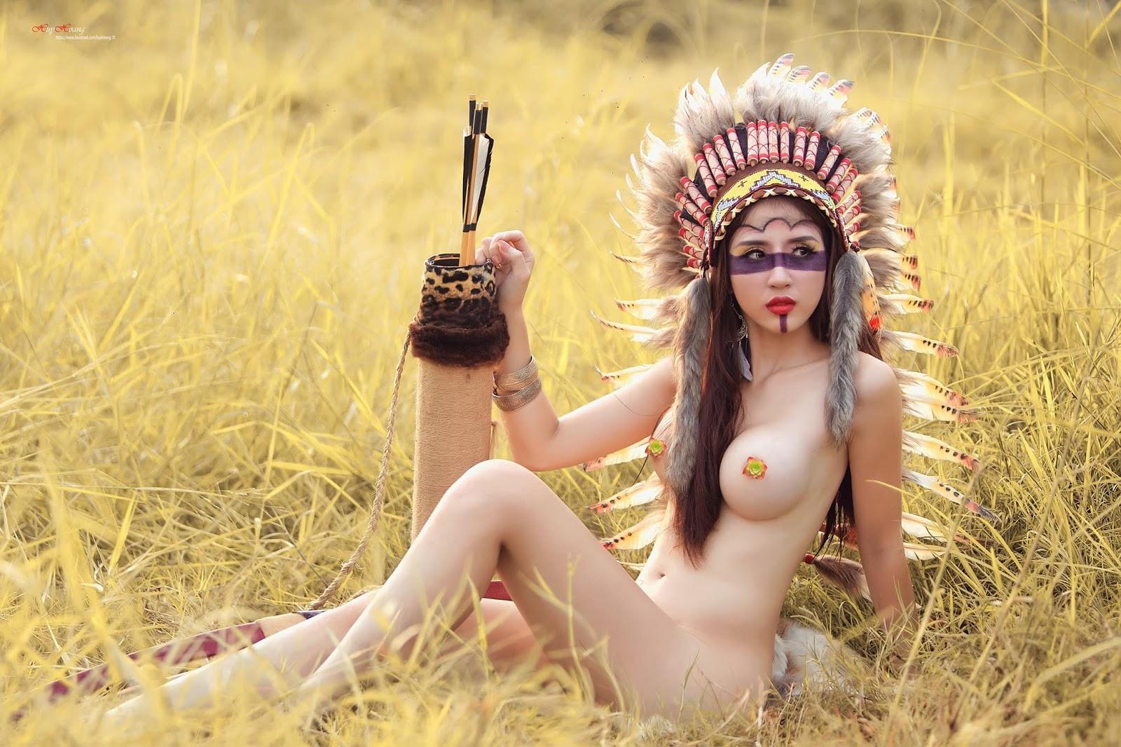 Cô nàng thổ dân da đỏ mà da lại trắng mơn mởn hơn Ngọc trinh