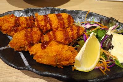 Inaniwa Yosuke, fried oysters