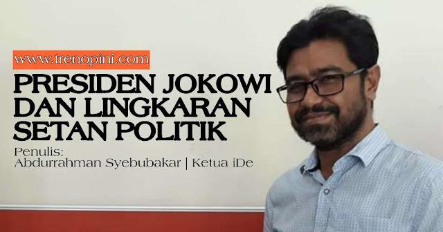 "Presiden Jokowi sendiri lahir dari rahim lingkaran setan politik yang bermula dari ""kecelakaan politik elektoral 2014"". Anasir jahat ini mengitari kekuasaan presiden dan membusuki ekonomi-politik Indonesia selama lebih dari lima tahun. Dan akan terus menggerogoti penyelenggaraan negara lima tahun ke depan"