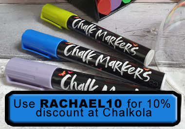 Use RACHAEL10 for discount at Chalkola