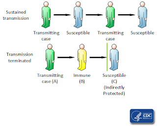 CDC graphic explaining herd immunity