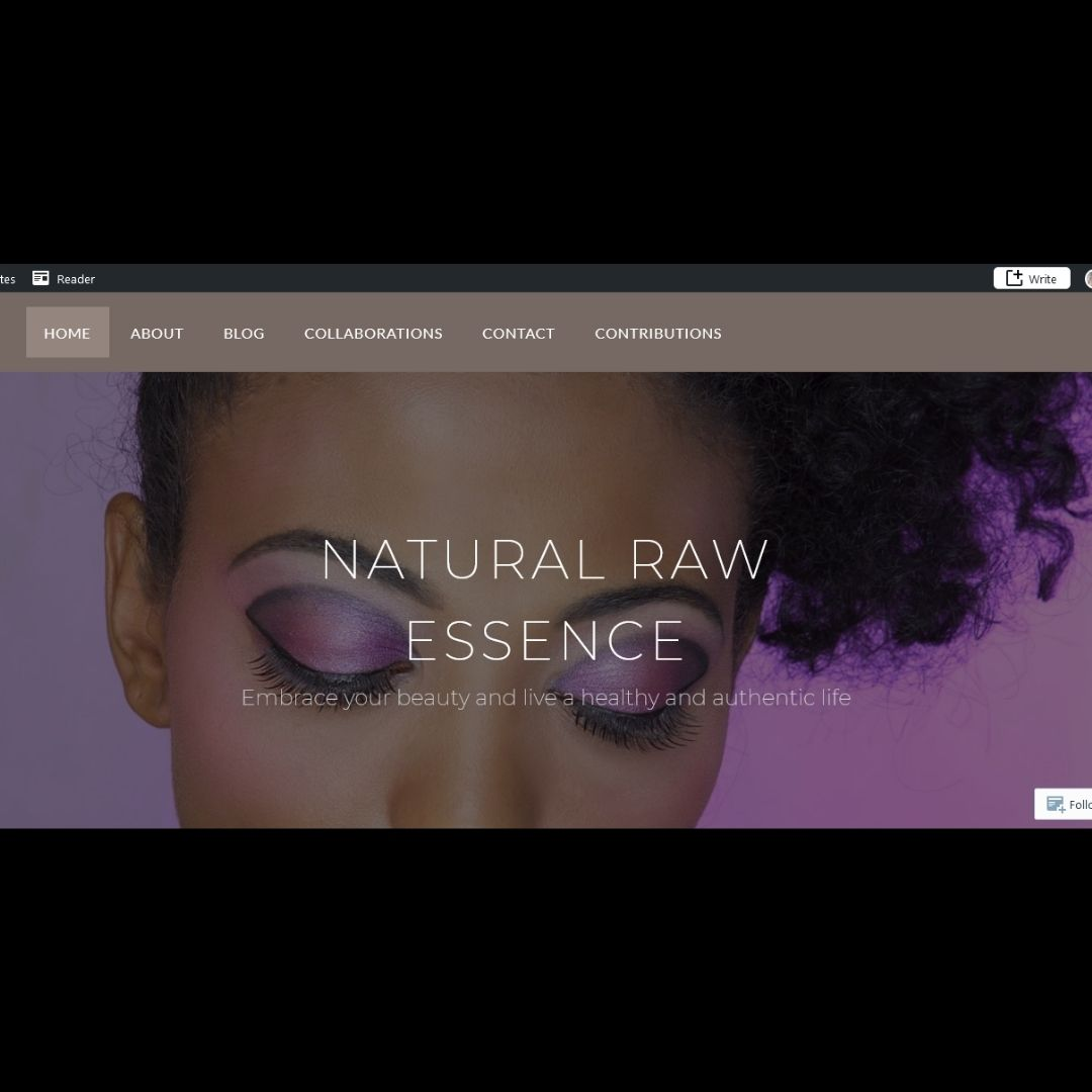 Subscribe to NEW blog! Go to: NaturalRawEssence.com