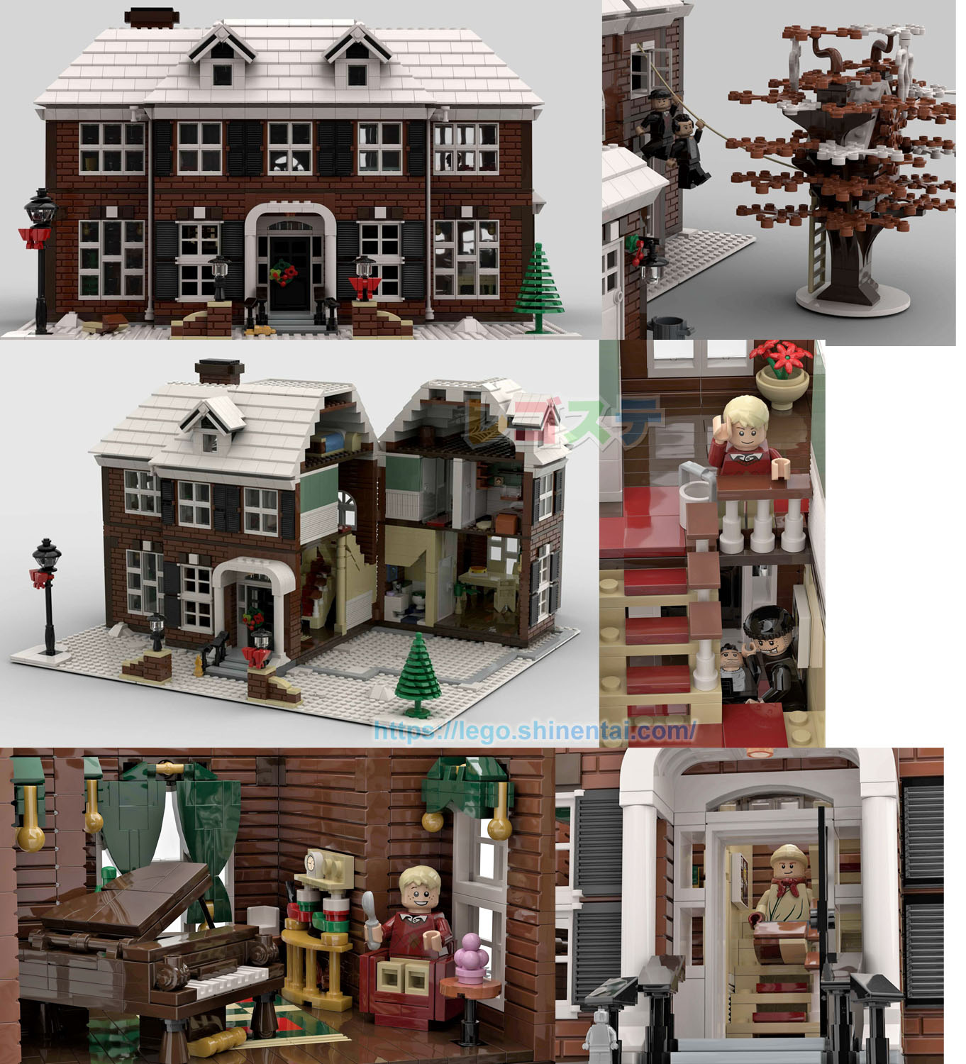 LEGO IDEAS:ホーム・アローンの家:Home Alone. McCallister's House.