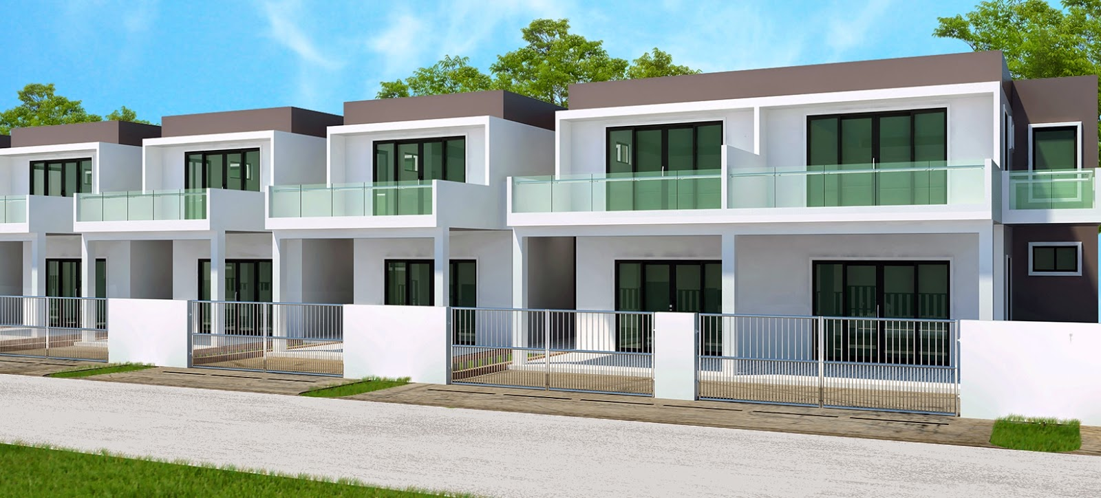 Double storey terraced houses for sale kg mata mata for Projects of houses