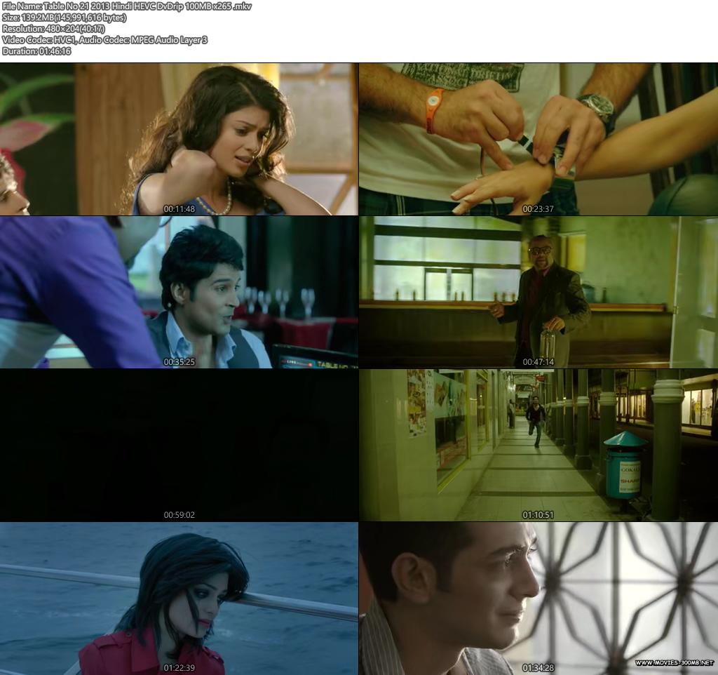 Table No 21 2013 Hindi HEVC DvDrip 100MB x265 Screenshot