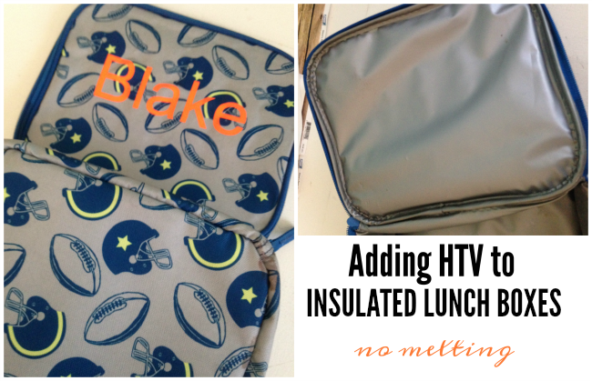 heat transfer vinyl insulated lunch box backpack silhouette cameo