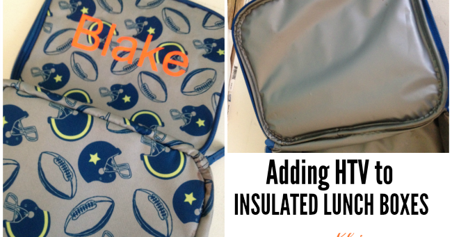 How To Put Heat Transfer Vinyl On Insulated Lunch Boxes