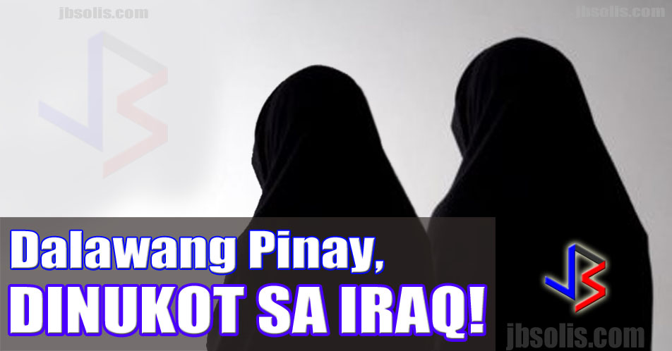 "For decades, Iraq has been a dangerous place. This was why the Philippine government used to ban Filipinos from travelling to the country since 2004. It is believed that 10,000 Filipinos work in Iraq illegally. The ban was upgraded to partial ban in 2013, with some precautionary measures. This does not mean that the country is now safe for Filipino workers. In fact, recent news coming from the country's security forces say that two Filipino Women have been kidnapped. Details of the kidnapping below.  The two Filipino women were kidnapped on Saturday in Iraq on a road connecting Baghdad to Kirkuk, security and local officials informed Reuters news agency. Kirkuk is part of the ""no-go"" areas still considered too dangerous for foreign workers. The others are the provinces of Anbar, Nineveh and Salahuddin.    The women were traveling with three other Filipinos on their way to Irbil, the capital of the Kurdistan Region, when their car broke down. The two women exited the car after it broke down. Unknown men drove by in a yellow car and grabbed them, a military source said.   The identities, affiliation, and motivation of the kidnappers were not immediately clear.  There has been an uptick in attacks and kidnappings by Daesh militants over the past few weeks near the area the women were taken from.  At least eight members of the security forces were kidnapped and later killed by the ultra-hardline militants on that same highway last month."