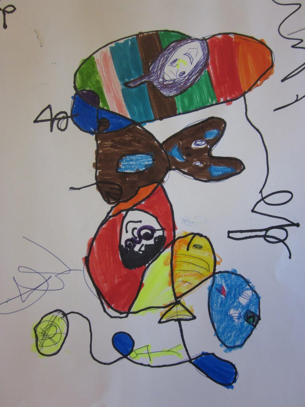 Art Is Basic Art Teacher Blog Miro Squiggle Drawings