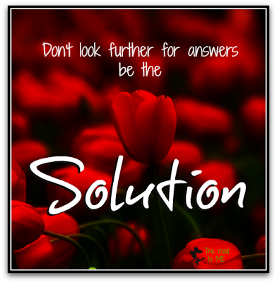 positive quote, bed of roses, be the solution quote,