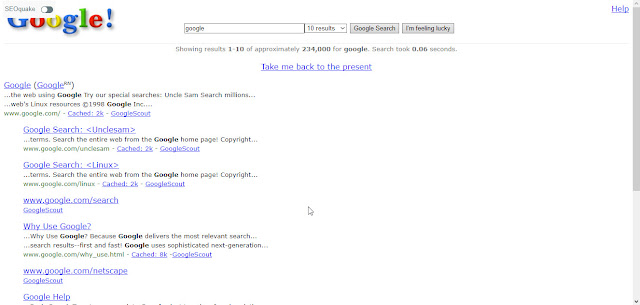Google in 1998 Tricks