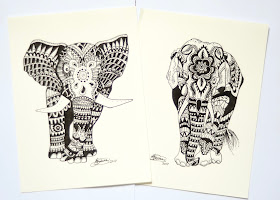 Gunns Designs, hand drawn prints