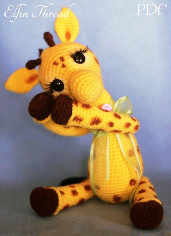 Girafa amigurumi | crochê | Tommy | Amigurumi de animais de crochê ... | 778x564