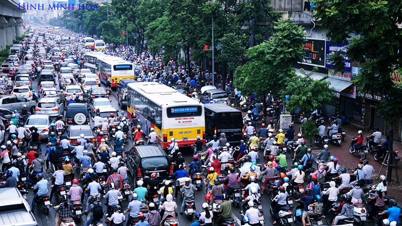 Tình trạng ùn tắc giao thông tại Hà Nội