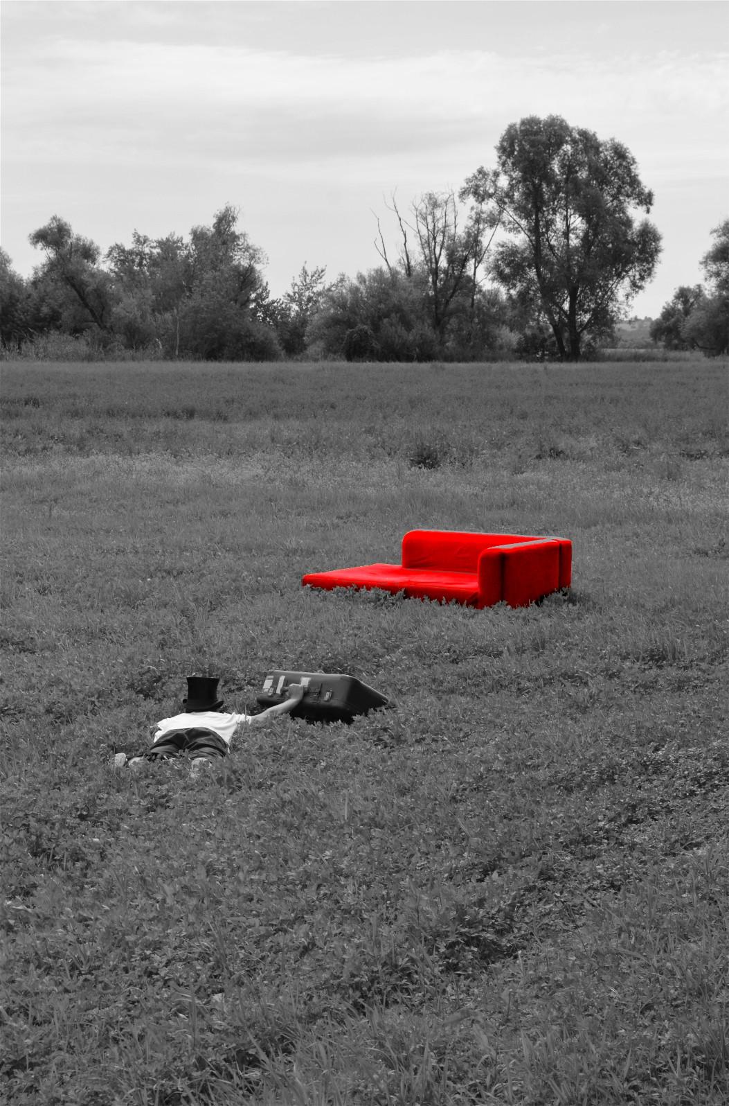 Rotes Sofa Unterwegs Mit Dem Roten Sofawebsart Websart