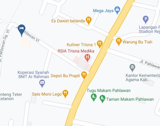 Map Letak Hotel Sakinah Family Residence Tulungagung