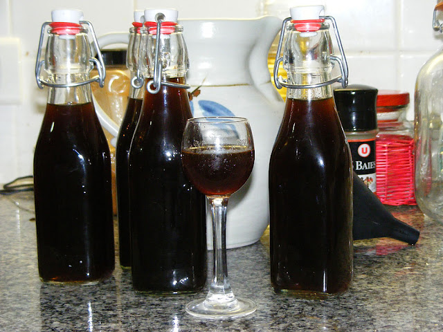 Homemade walnut liqueur. Photo by Loire Valley Time Travel.
