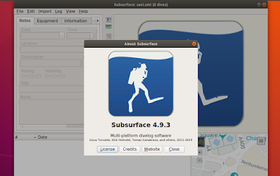 Install Subsurface 4.9.3 on Ubuntu and Linux Mint system with PPA
