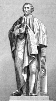 Monument to Sir Joshua Reynolds in   St Paul's Cathedral from The Monuments   and Genii  of St Paul's Cathedral and of   Westminster Abbey by GL Smyth (1826)