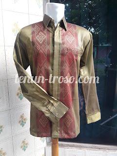 Baju Tenun Baron Motif Toraja Paroki