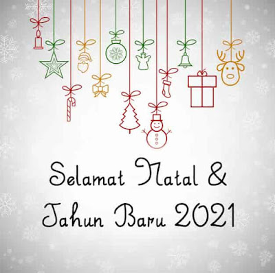 gambar ucapan  natal dan tahun baru 2021