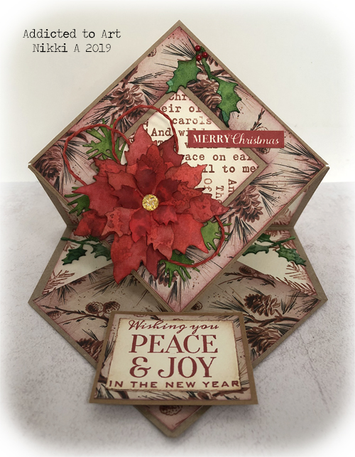 Vintage Easel Card with Tim Holtz products