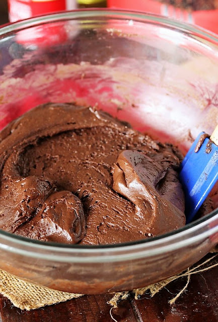 Chocolate Crinkle Cake Mix Cookies Batter Image