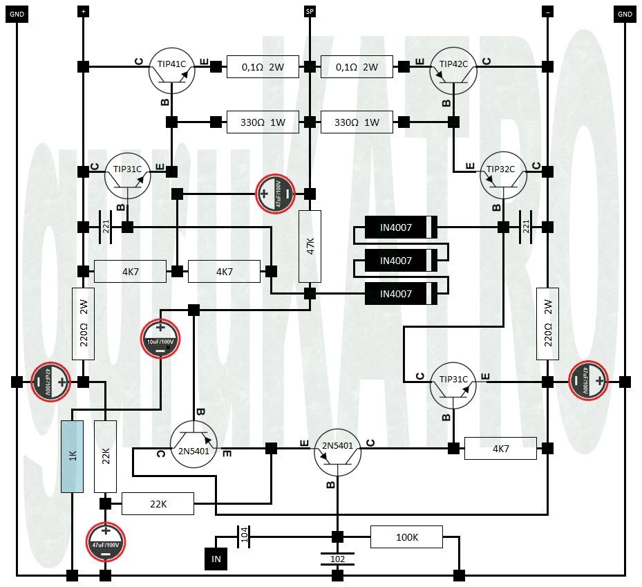 hight resolution of jangan sepelekan tip41 vs tip42 sebab menurut datasheet satu transistor itu bisa mengeluarkan maksimal 65 watt coba bila dikawinkan diantara keduanya