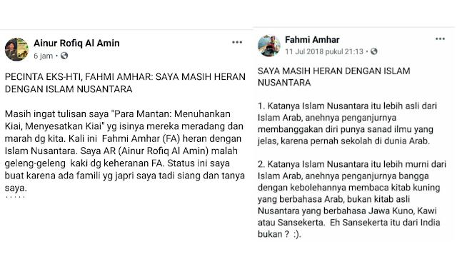 Jawaban untuk Pecinta Eks HTI Fahmi Amhar yang Heran dengan Islam Nusantara