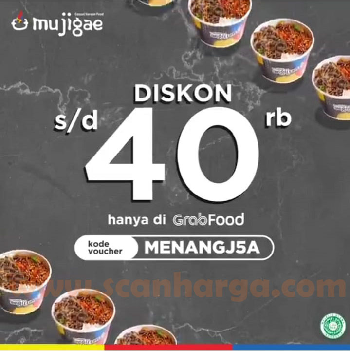 MUJIGAE Promo Grabfood DISKON Hingga Rp 40.000,-