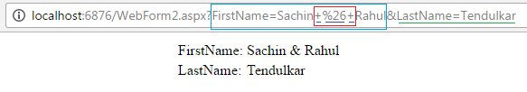 Query String with url encode