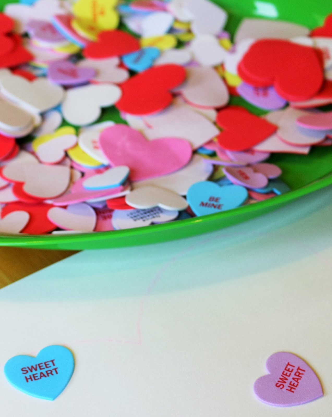 fine motor valentine's craft using stickers