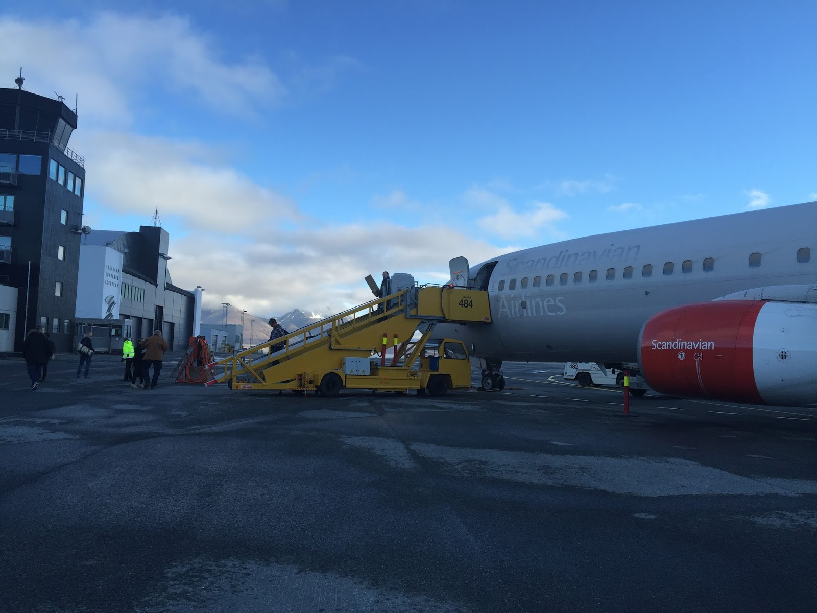 Journey to Desert and Arctic - Scandinavian Airlines at Svalbard Airport