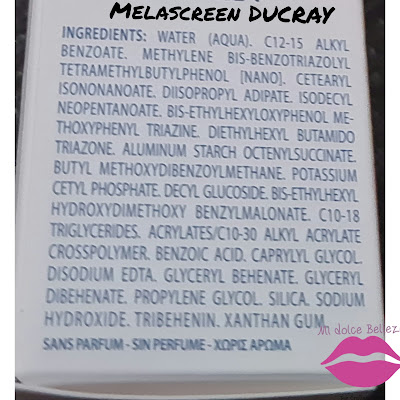 Melascreen de DUCRAY ingredientes