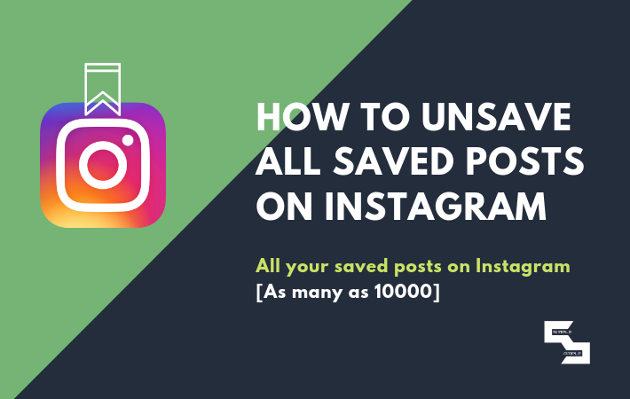How to Unsave All Saved Posts on Instagram at Once | Simpleample