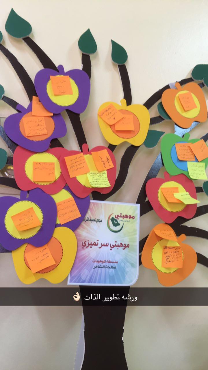 مجلة الابتدائية الثانية لتحفيظ القرآن الكريم للبنات بسكاكا الإلكترونية بعض من أعمال الطالبات في أسبوع الموهبة
