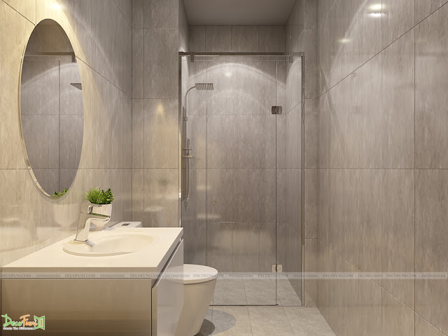 Thiết kế và thi công căn hộ chung cư Compass One - Tp. Thủ Dầu Một, Bình Dương -Toilet chung
